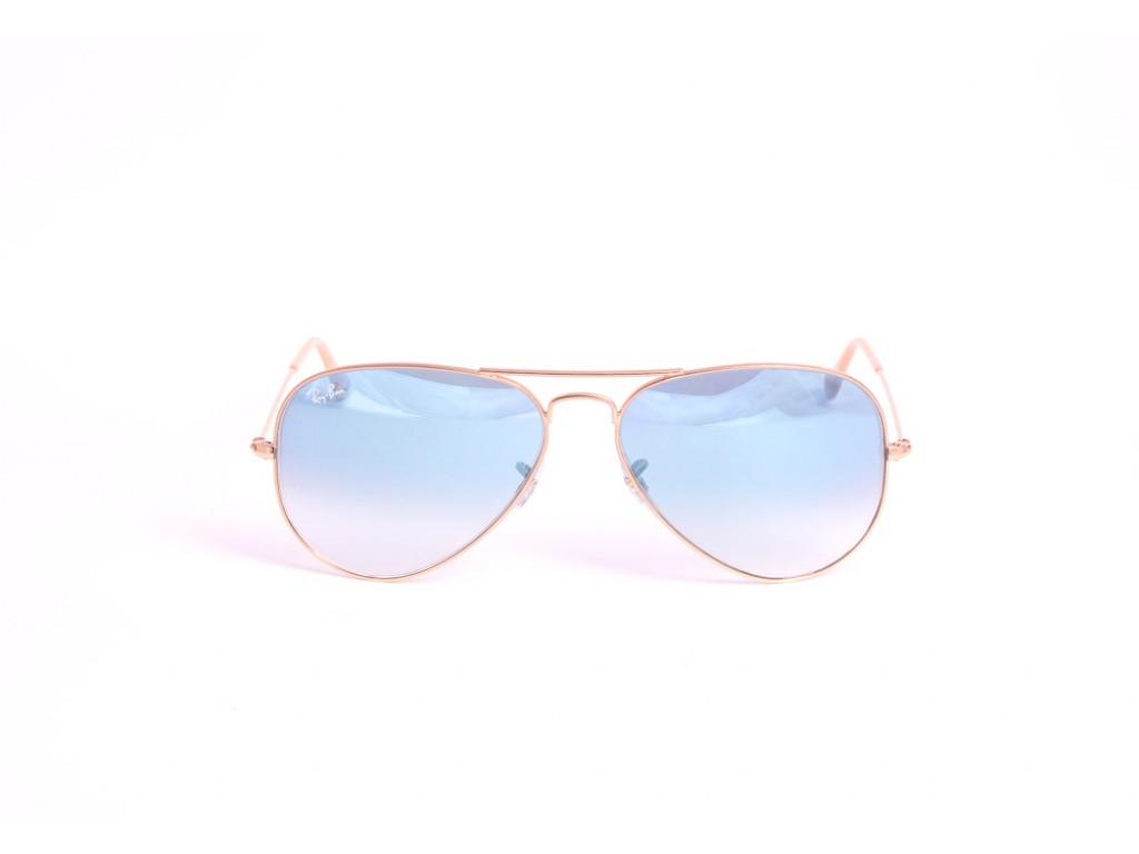 Мужские солнцезащитные очки RAY BAN 3025 AVIATOR LARGE METAL 001/3F