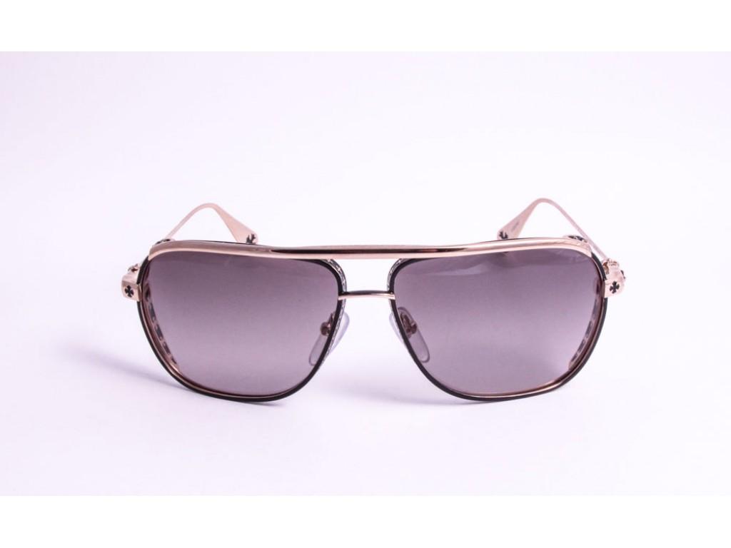 Мужские солнцезащитные очки CHROME HEARTS BONEYARD SBK/GP-WSS Хром хартс