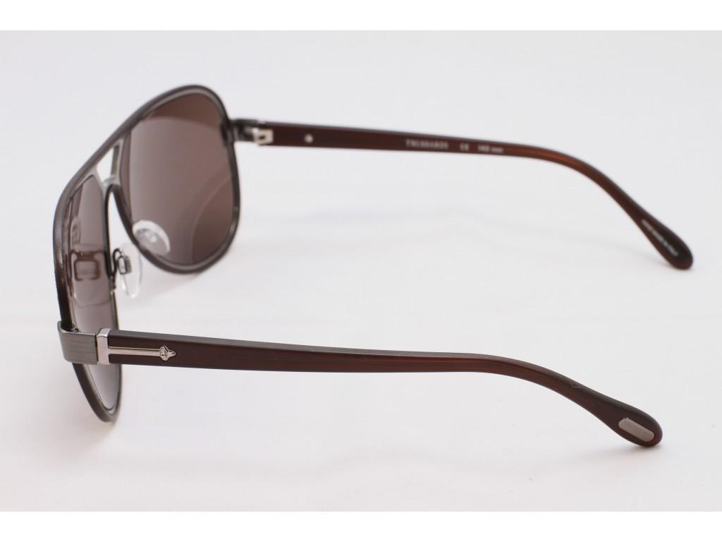 Мужские солнцезащитные очки TRUSSARDI 12925 BR C3 ТРУСАРДИ
